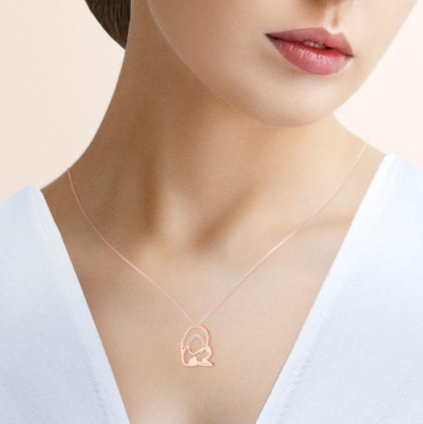modelo medalla virgen camino neocatecumenal elkerigma plata rosa circonitas