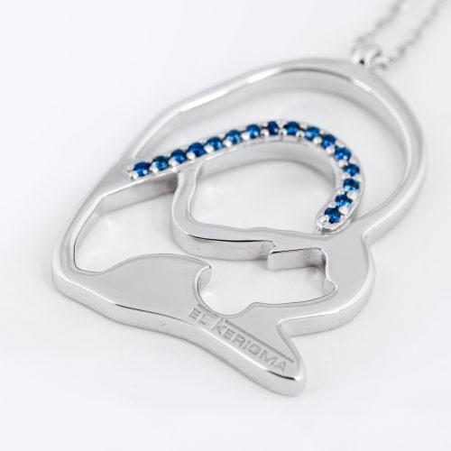 medalla virgen camino neocatecumenal elkerigma creativa plata circonitas azules