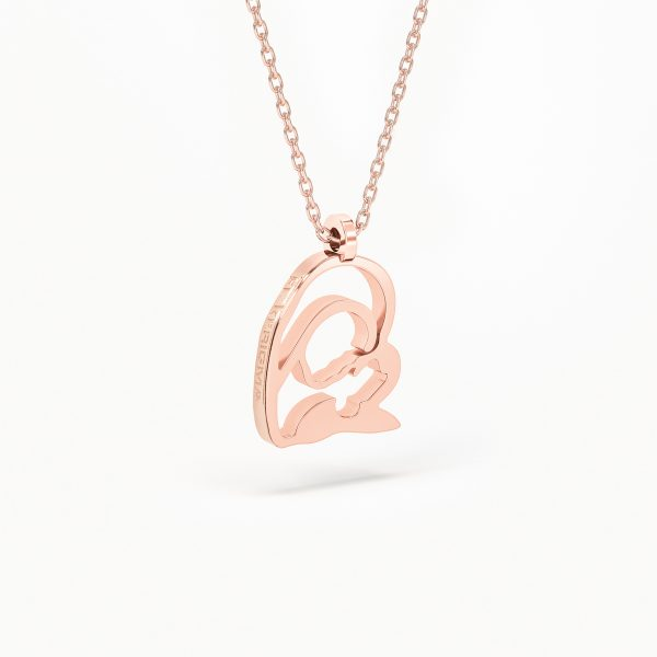 medalla el kerigma virgen camino neocatecumenal pequeña plata rosa