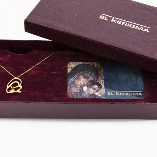 elkerigma packaging virgen camino neocatecumenal oro diamantes abierta