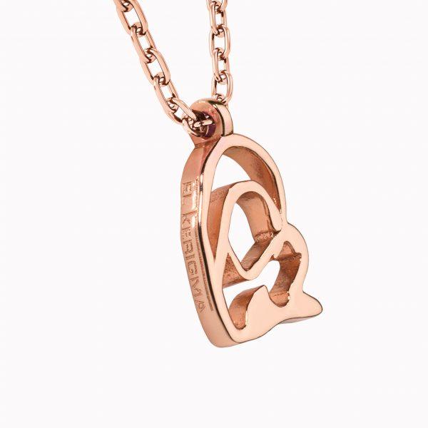 medalla virgen camino neocatecumenal elkerigma plata rosa pequeña