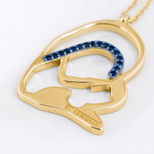 medalla virgen camino neocatecumenal elkerigma oro zafiros creativa