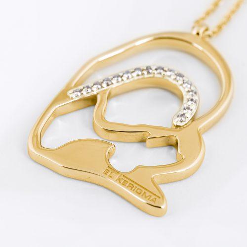 medalla virgen camino neocatecumenal elkerigma oro diamantes creativa