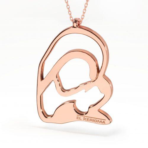 medalla virgen camino neocatecumenal elkerigma plata rosa