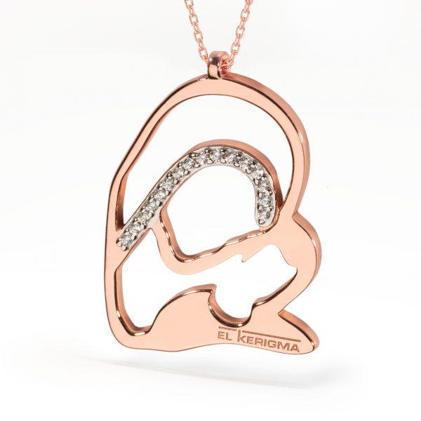 medalla virgen camino neocatecumenal elkerigma plata rosa circonitas