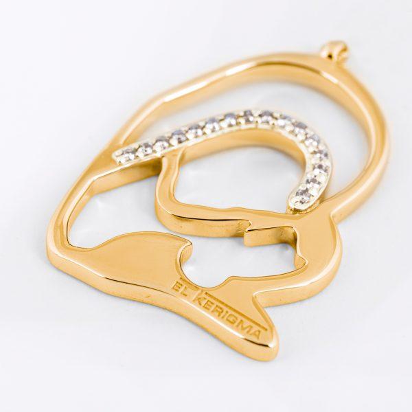 medalla virgen camino neocatecumenal elkerigma oro diamantes creativa sin cadena